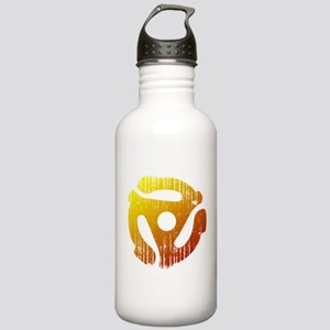 Distressed 45 RPM Adapter Stainless Water Bottle 1