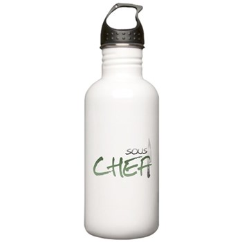 Green Sous Chef Stainless Water Bottle 1.0L