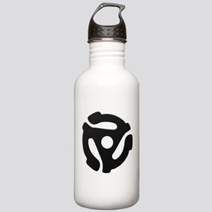 Black 45 RPM Adapter Stainless Water Bottle 1.0L