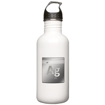 Silver (Ag) Stainless Water Bottle 1.0L