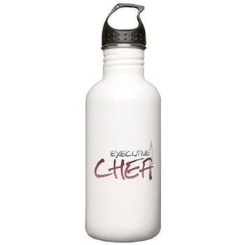 Red Executive Chef Stainless Water Bottle 1.0L