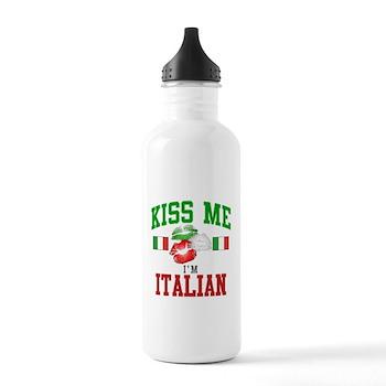 Kiss Me I'm Italian Stainless Water Bottle 1.0L