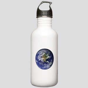 Western Earth from Space Stainless Water Bottle 1.