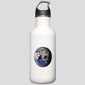 Eastern Earth from Space Stainless Water Bottle 1.