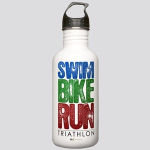 Swim, Bike, Run - Triathlon Stainless Water Bottle
