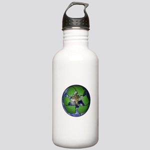 Green Recycle on Earth Stainless Water Bottle 1.0L