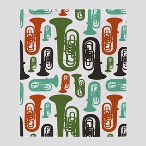 Tuba Throw Blanket