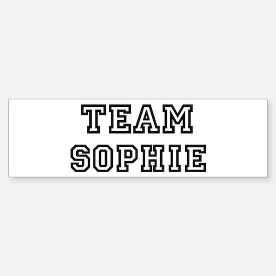Team Sophie Bumper Bumper Bumper Sticker