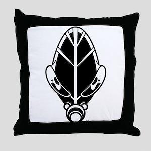 Gas Mask Throw Pillow