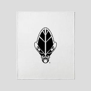 Gas Mask Throw Blanket