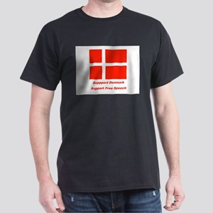 Support Denmark Black T-Shirt