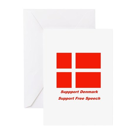 Support Denmark Greeting Cards (Pk of 10)
