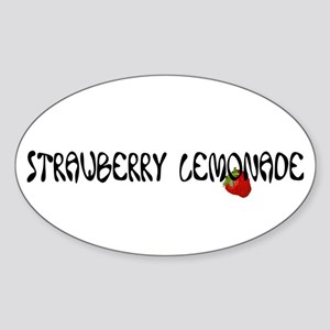 Strawberry Lemonade Oval Sticker