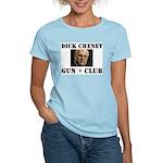 Dick Cheney Gun Club Women's Pink T-Shirt