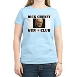 Dick Cheney Gun Club Women's Pink T-Shirt