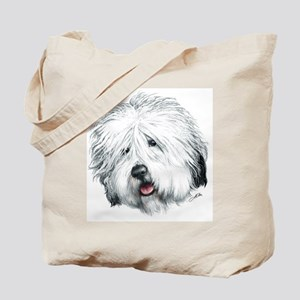 Sweet Old English seheepdog Tote Bag