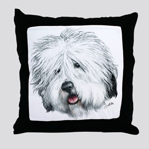 Sweet Old English seheepdog Throw Pillow