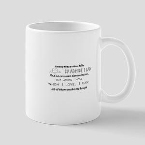 Among those whom I like or admire, I can find Mugs