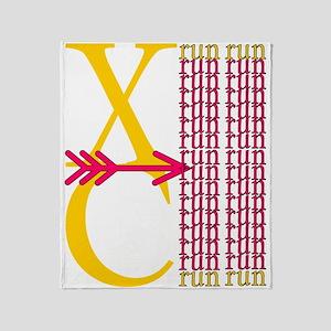 XC Run Yellow Scarlet Throw Blanket