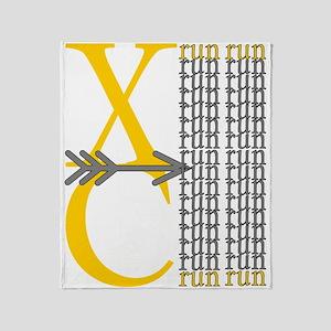 XC Run Yellow Gray Throw Blanket