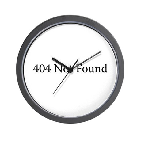 404 Not Found Wall Clock