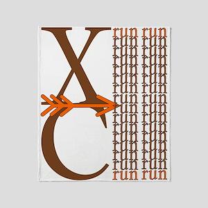 XC Run Brown Orange Throw Blanket