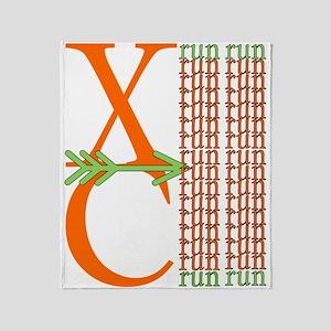 XC Run Orange Lt. Green Throw Blanket
