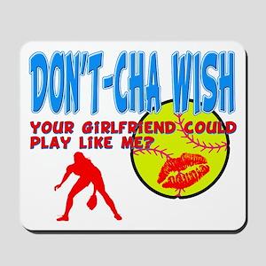 Girls Softball Mousepad