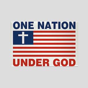 One Nation Under GOD Rectangle Magnet