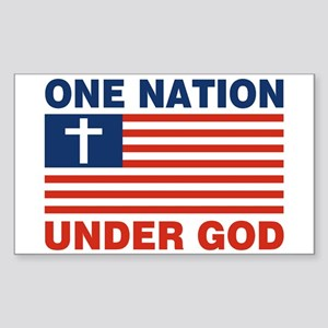 One Nation Under GOD Sticker (Rectangle)