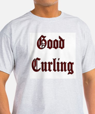 Good Curling Ash Grey T-Shirt
