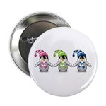 "Three Cute Baby Penguins 2.25"" Button (10 Pk)"