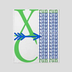 XC Run Light Green Blue Throw Blanket