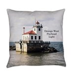 Oswego West Pierhead Light Everyday Pillow