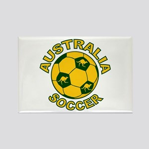 Australia Soccer New Rectangle Magnet