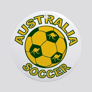 Australia Soccer New Ornament (Round)