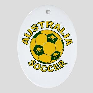 Australia Soccer New Ornament (Oval)