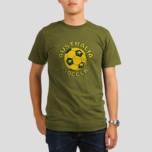 Australia Soccer New Organic Men's T-Shirt (dark)