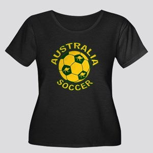 Australia Soccer New Women's Plus Size Scoop Neck