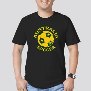 Australia Soccer New Men's Fitted T-Shirt (dark)