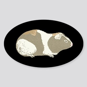 Tan Guinea Pig Oval Sticker
