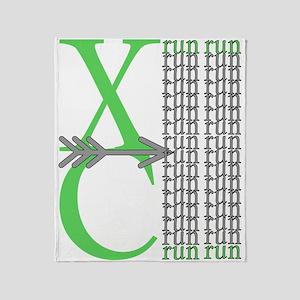 XC Run Light Green Grey Throw Blanket