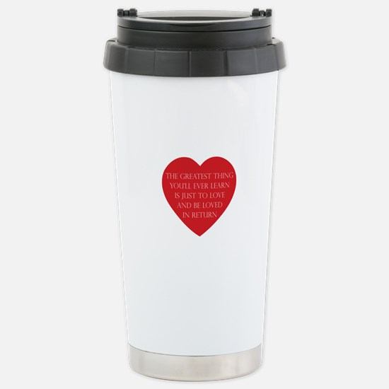Love and be Loved Stainless Steel Travel Mug