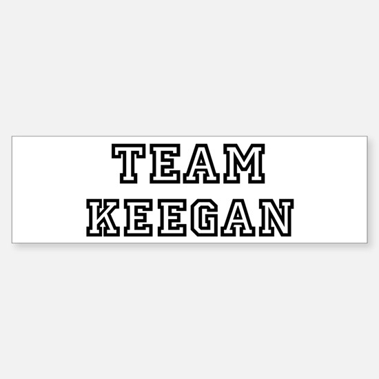 Team Keegan Bumper Bumper Bumper Sticker