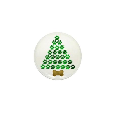 Dog's Christmas Tree Mini Button (100 pack)