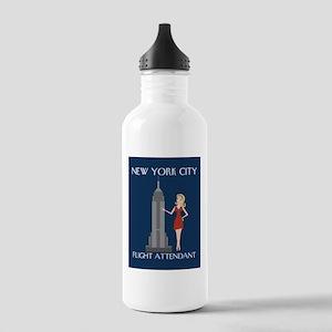 New York Flight Attendant Stainless Water Bottle 1