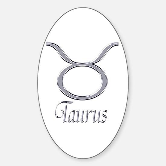 Taurus Zodiac Gifts Oval Decal