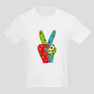 Flowery Peace Kids T-Shirt