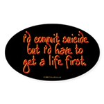 Suicide Oval Sticker
