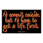 Suicide Rectangle Sticker
